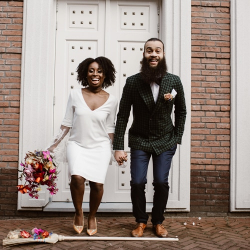 kleurrijk bruiloft thema