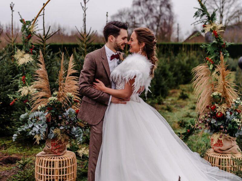 kerst winter bruiloft