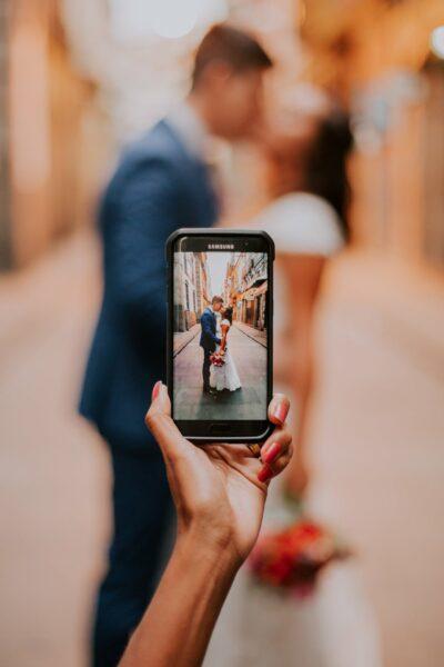 social media op je bruiloft