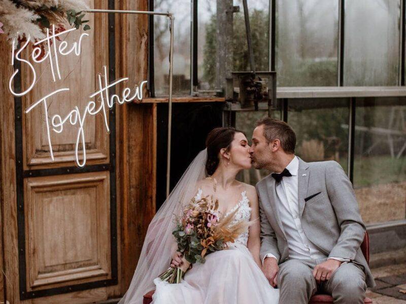 Moderne Romantische Bruiloft Inspiratie