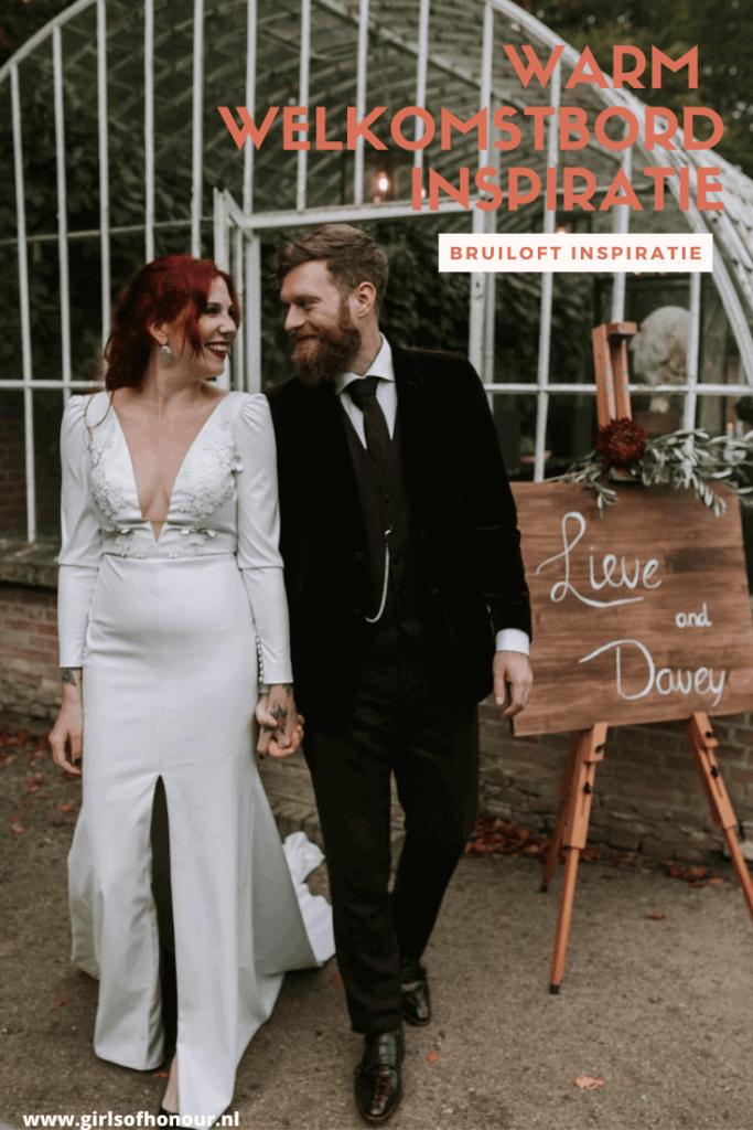 WELKOMSTBORD bruiloft INSPIRATIE