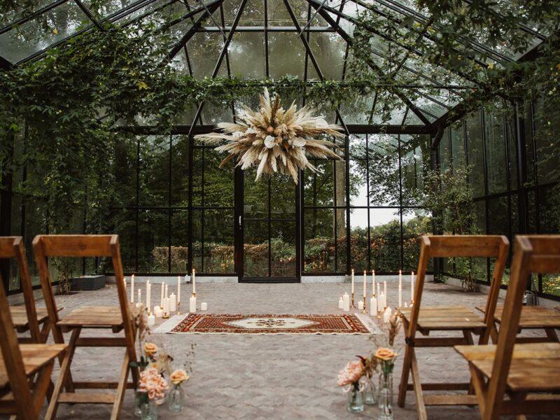 Backdrop bruiloft