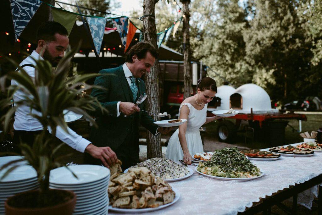 bruiloft met avondceremonie