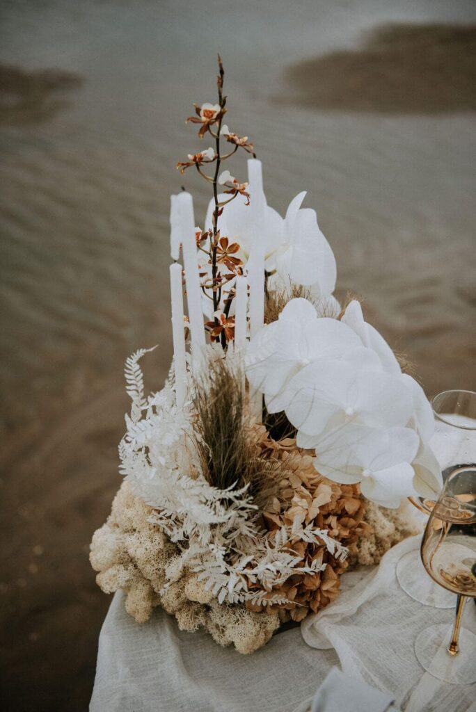 trouwen strand winter