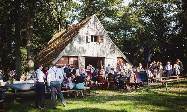 De buiten-bruiloft van Eveline en Atse