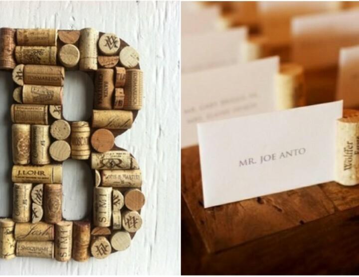 Natuurlijke decoratie op jullie bruiloft