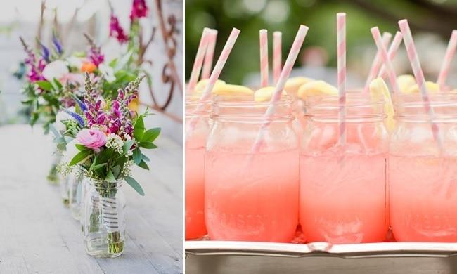 Styling van een lente bruiloft