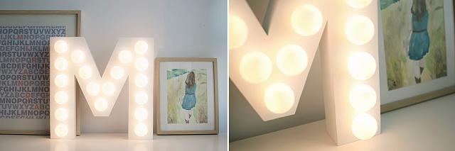 Diy letters met lampen girls of honour trouwblog for Lampen xenos
