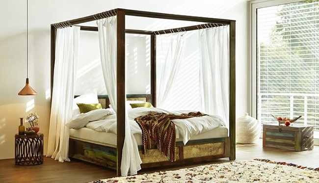 Een romantische slaapkamer inrichten girls of honour for Slaapkamer bed