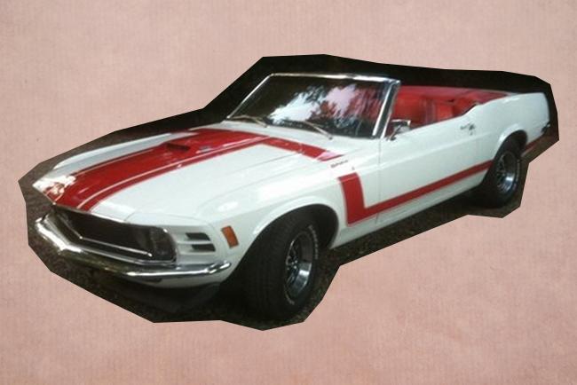 Trouwauto Mustang