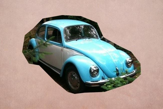 Trouwauto Volkswagen Beatle Lichtblauw