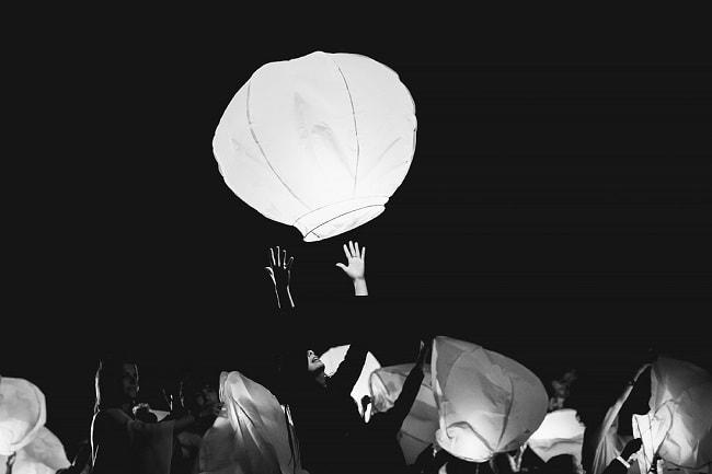 Wensballon Bruiloft