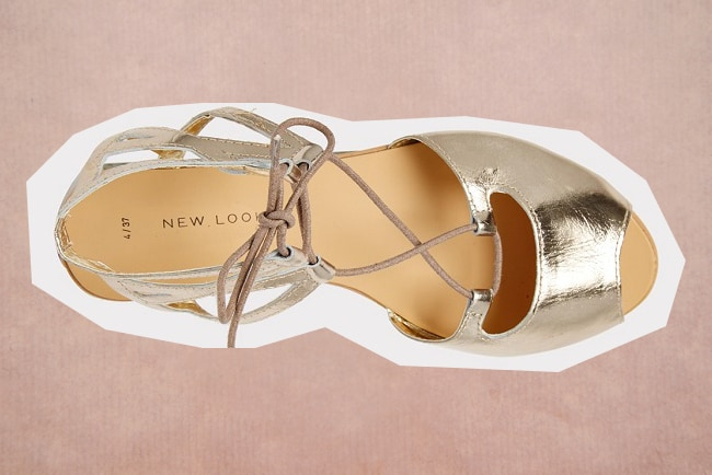 Trouwschoenen New Look metallic sandaal