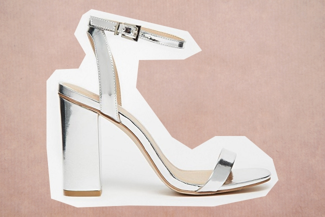 Trouwschoenen metallic asos