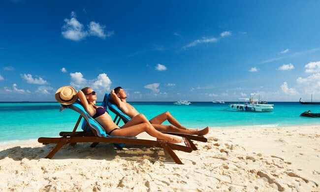Huwelijksreis top 6: zon, zee en strand