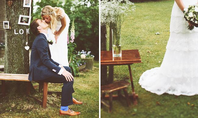 Een vintage bruiloft in de tuin