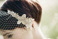 birdcage veil bandeau handmade