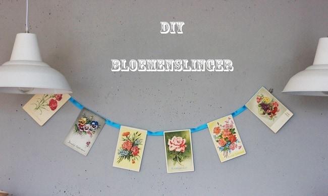 DIY: bloemen-slinger
