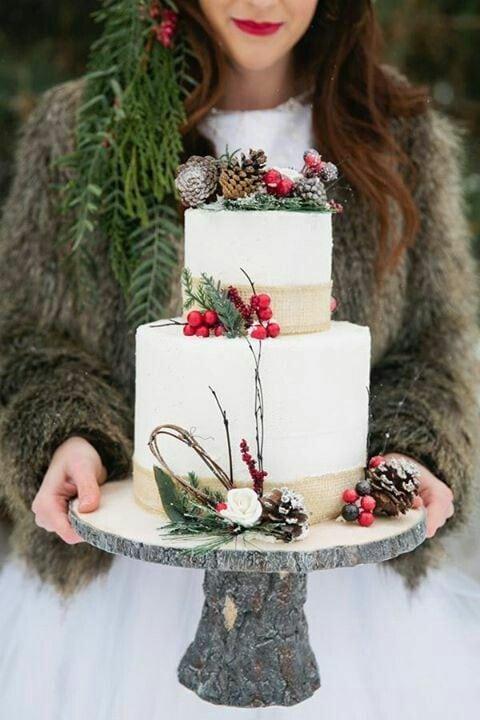 bruidstaart winter