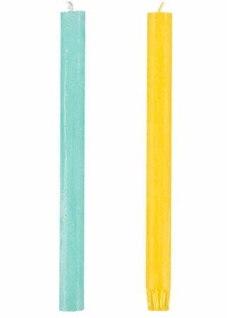 losse-kaars-geel-en-blauwe-kaarsen---bedankjes-bruiloft