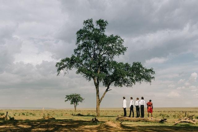 masaai masai mara bruiloft in Kenia steppe