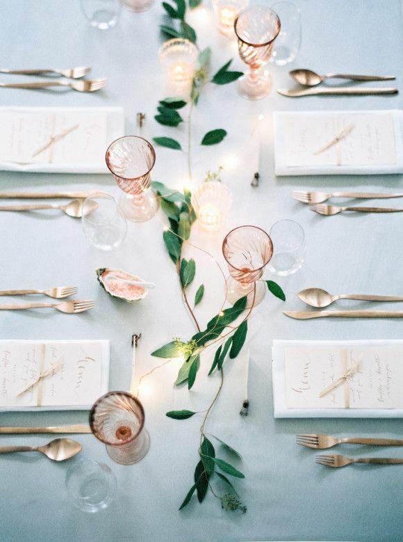 rose goud tafelaankleding